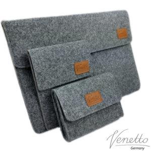 Venetto Set für MacBook, eBook-Reader, Netzteil